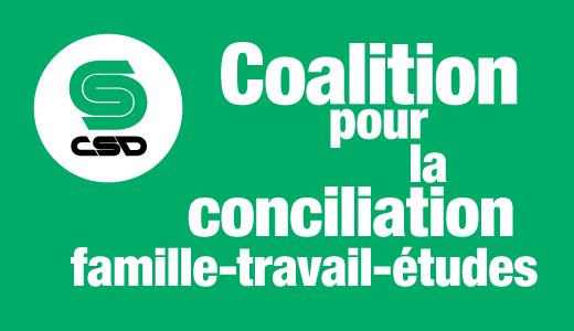 Coalition prou la conciliation famille-travail-études