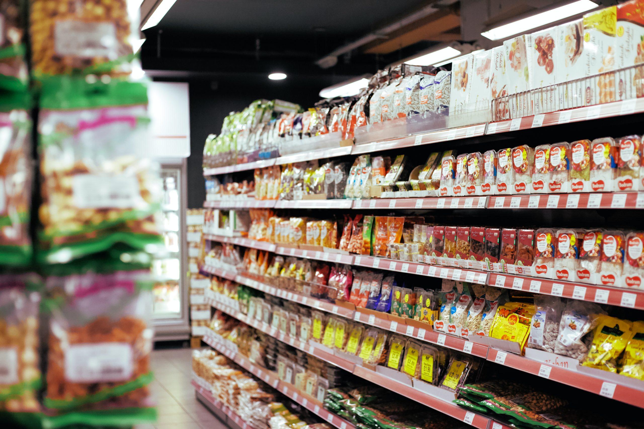 Rayon dans une épicerie