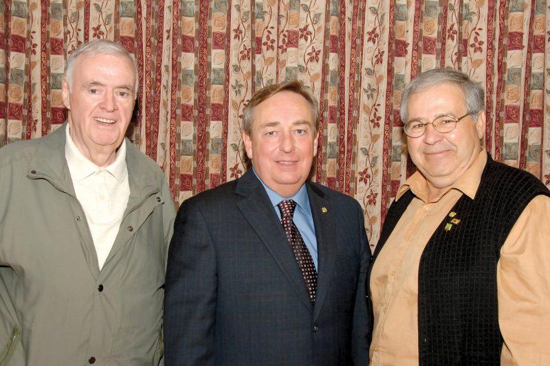 Photo de Jeannot Picard, François Vaudreuil et Rodrigue Chartier (mars 2005)