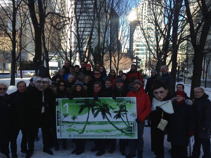Manifestants contre les paradis fiscaux