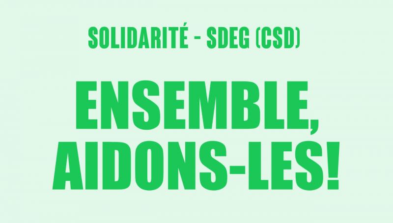 SNEG-CSD : Ensemble aidons-les!