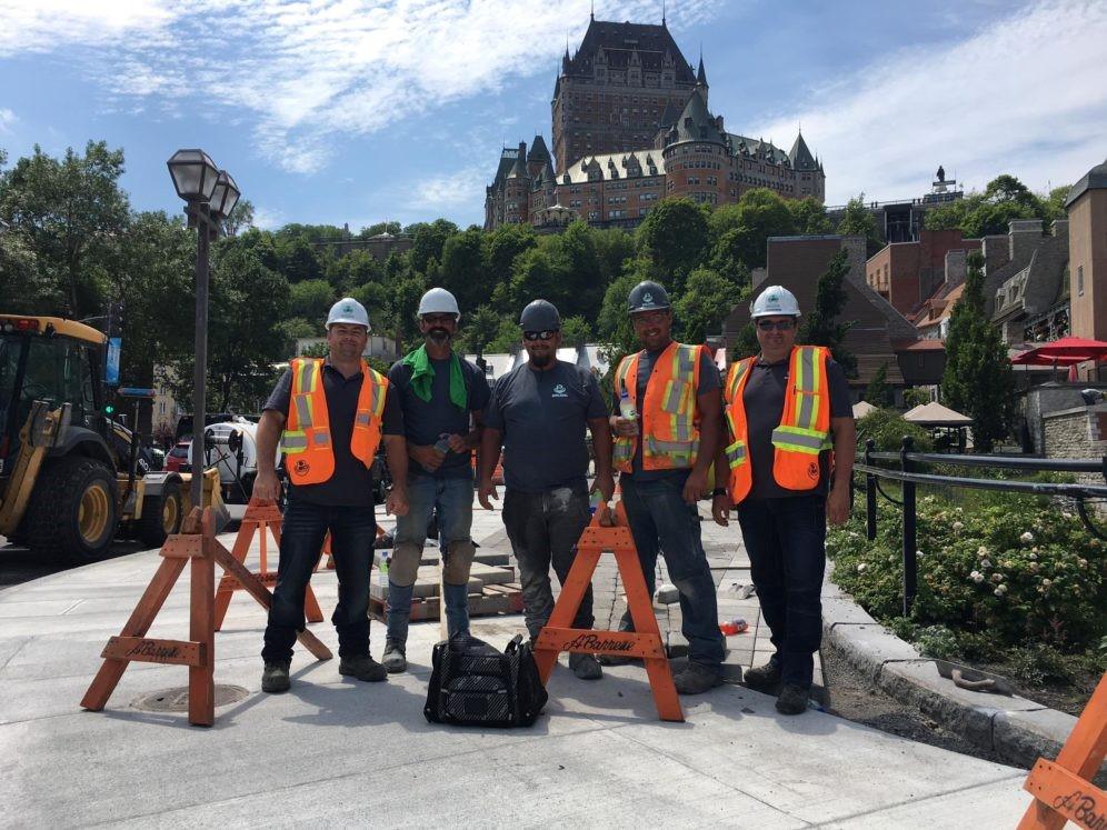 Des membres CSD Construction de la région de Québec sur un chantier.