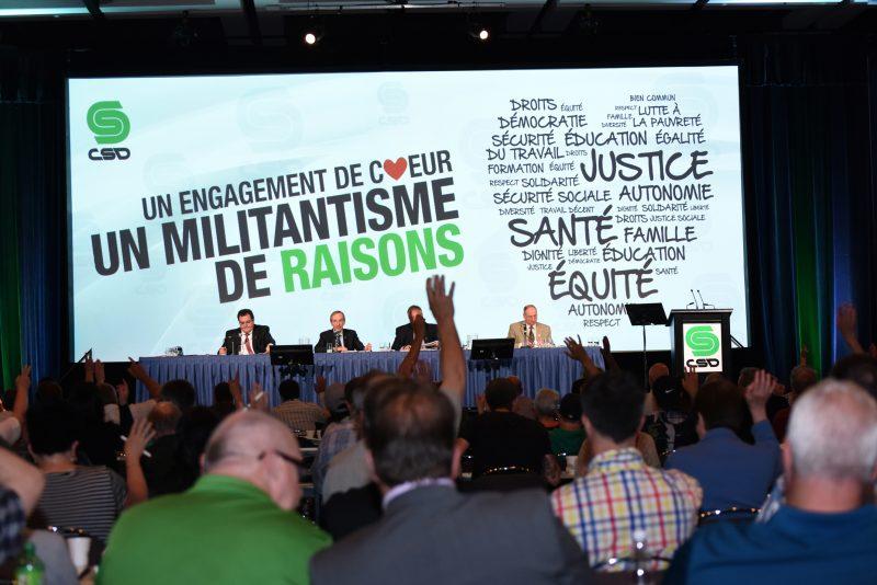Une foule au Congrès 2015 de la CSD.