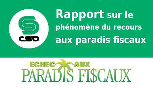 Rapport sur le phénomène du recours aux paradis fiscaux