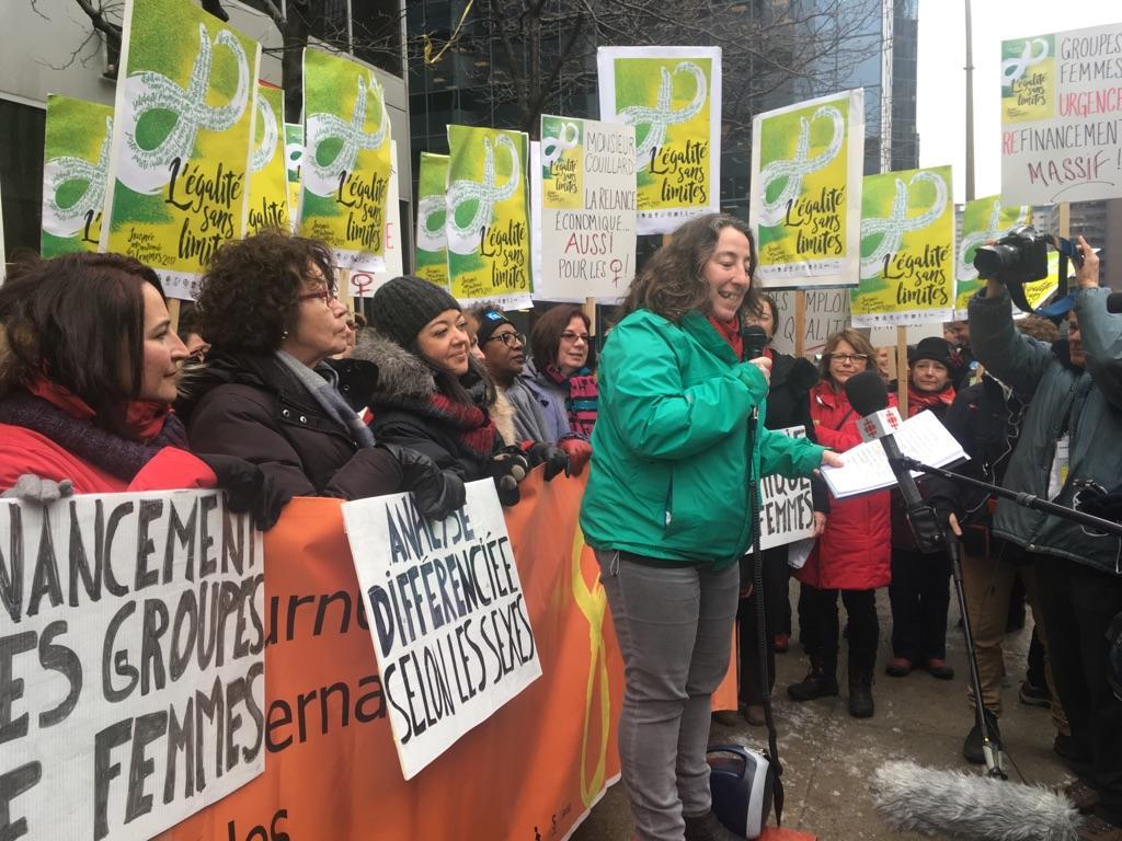 Rassemblement lors de la marche du collectif 8 mars